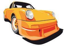 Orange sport car. Vectorial image of Porsche 911 (1973 year Royalty Free Stock Photo