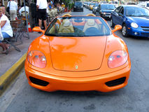 Orange sport car Royalty Free Stock Photography