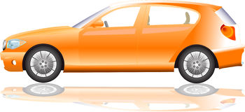 Orange sport car illustration Royalty Free Stock Photography