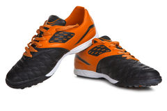Orange Sport shoes Royalty Free Stock Photography
