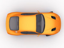 Orange Sportcar. In studio isolated [with clipping path Royalty Free Stock Images