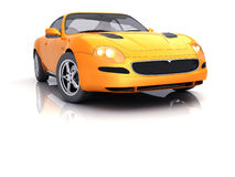 Orange Sportcar. In studio isolated [with clipping path Royalty Free Stock Photos
