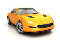 Orange Sportcar. In studio isolated [with clipping path Royalty Free Stock Image