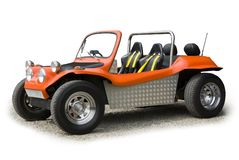 Orange sports buggy Royalty Free Stock Images