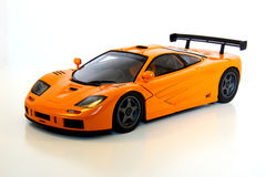 Orange Sports Car. A model of an orange sports car Royalty Free Stock Images