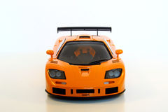 Orange Sports Car. A model of an orange sports car Royalty Free Stock Image