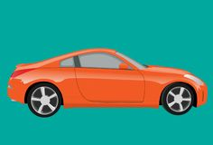 Orange sports car Royalty Free Stock Images