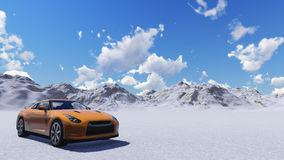 Orange sports car Stock Image