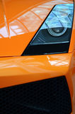 Orange Sports Car Detail Royalty Free Stock Images