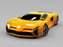 Orange sports car premium. Conceptual design. A Stock Image