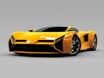 Orange sports car premium. Conceptual design. A Royalty Free Stock Images