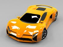 Orange sports car premium. Conceptual design. A Stock Images