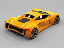 Orange sports car premium. Conceptual design. A Royalty Free Stock Image
