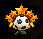 Orange sports emblem, football royalty free illustration