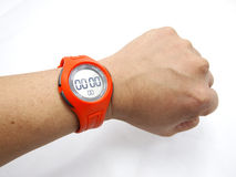 Orange Sports Watch With Hand Stock Photography