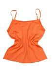 Orange sportutslagsplatsskjorta Arkivfoto