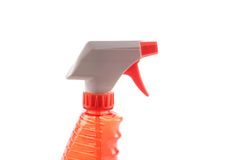 Orange spray bottle Royalty Free Stock Photo