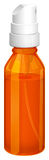 An orange spray bottle Stock Image
