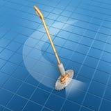 Orange spray mop Royalty Free Stock Photography