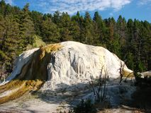 Orange Spring Mound at Mammoth Hot Springs Royalty Free Stock Photo