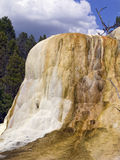 Orange Spring Mound Yellowstone Closeup Royalty Free Stock Images