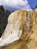 Orange Spring Mound Yellowstone Closeup Royalty Free Stock Images