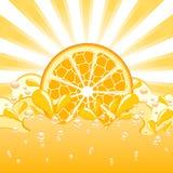 orange Spritzen lizenzfreie abbildung