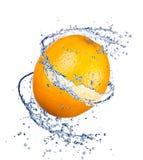 Orange Spritzen Lizenzfreies Stockfoto
