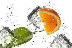 Orange Spritzen Stockbild