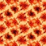 Orange spritzt Muster lizenzfreie abbildung