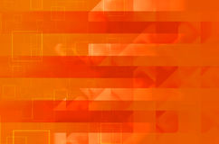 Orange square abstract background. Orange lines square abstract background Stock Photography