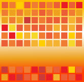 Orange square background Stock Image
