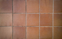 Orange Square Bricks background or texture Royalty Free Stock Images