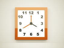 Orange square clock Stock Photography