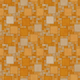 Orange Square Mosaic Abstract Geometric Design Tile Pattern Repe Stock Photo