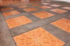 Orange square tiles Stock Image