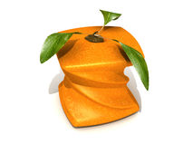 Orange squash. 3D rendering of a twisted cubic orange Royalty Free Stock Images