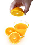 Orange Squeezing Stock Image