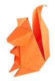 Orange squirrel of origami. Stock Images
