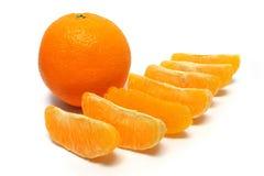 Orange Stücke stockfotos