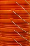Orange stacked buckets royalty free stock photography