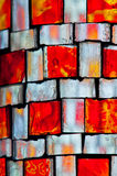 Orange stained glass Royalty Free Stock Image