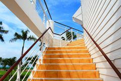Orange staircase Stock Photos
