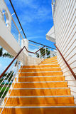 Orange staircase Royalty Free Stock Image