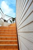 Orange staircase Stock Photography