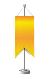 Orange stand banner template illustration Royalty Free Stock Photos