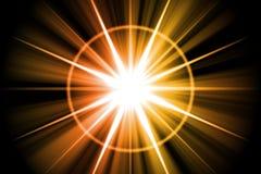 Orange Star Sunburst Abstract Royalty Free Stock Photo