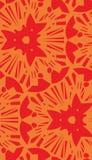Orange Starburst Repeating Pattern Stock Photo