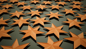 Orange stars background Royalty Free Stock Image