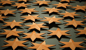 Orange stars background Stock Image